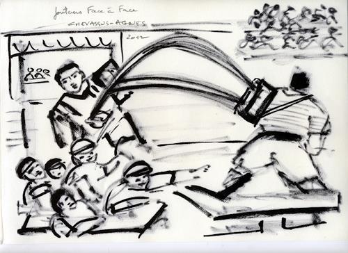 Jean-Pierre CHEVASSUS-AGNES, 2 JOUTEURS FACE A FACE, Party/Feier, Sport, Barock