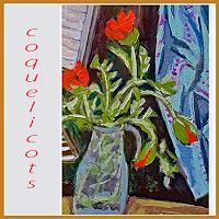 Jean-Pierre-CHEVAssUS-AGNES-Pflanzen-Blumen-Musik-Instrument-Moderne-expressiver-Realismus