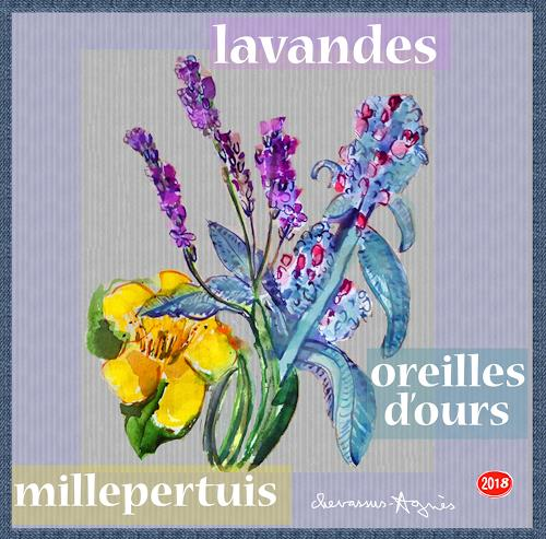 Jean-Pierre CHEVASSUS-AGNES, COUNTRY  FLOWERS, Pflanzen: Blumen, Gefühle: Liebe, expressiver Realismus