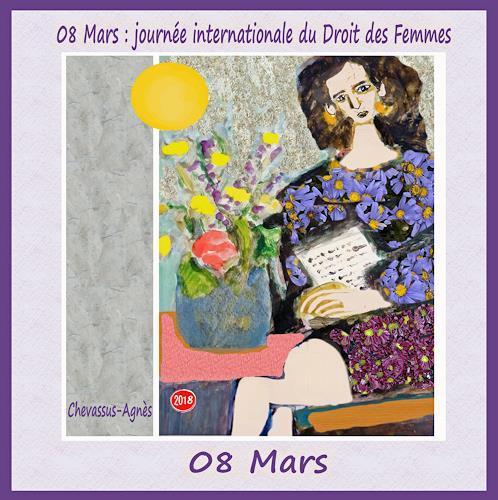 Jean-Pierre CHEVASSUS-AGNES, 08 Mars  INTERNATIONAL   WOMAN  DAY, Menschen: Frau, Party/Feier, expressiver Realismus
