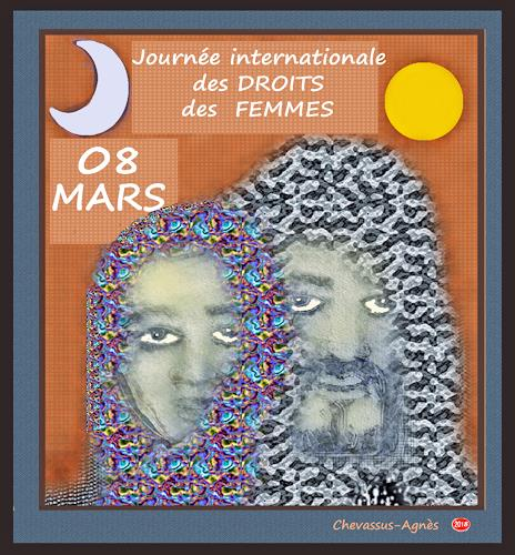 Jean-Pierre CHEVASSUS-AGNES, 08 Mars  INTERNATIONAL   WOMAN  DAY, Party/Feier, Menschen: Frau, expressiver Realismus
