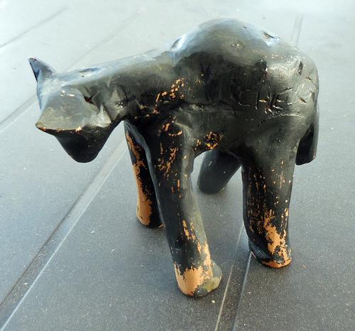 Jean-Pierre CHEVASSUS-AGNES, my black cat, Tiere: Land, Gefühle: Liebe, Konkrete Kunst, Abstrakter Expressionismus