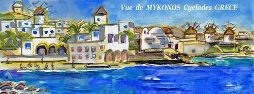 Jean-Pierre CHEVASSUS-AGNES, MYKONOS  CYCLADES  GREECE, Landschaft: See/Meer, Architektur, Konstruktivismus