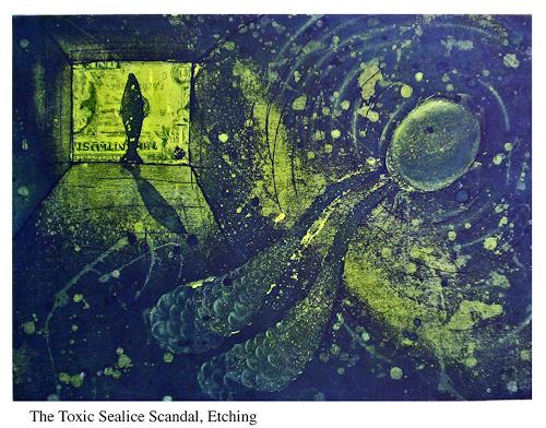 Peter MacWhirter, Toxic Sealice, Tiere: Wasser, Tiere: Wasser, Fotorealismus, Moderne