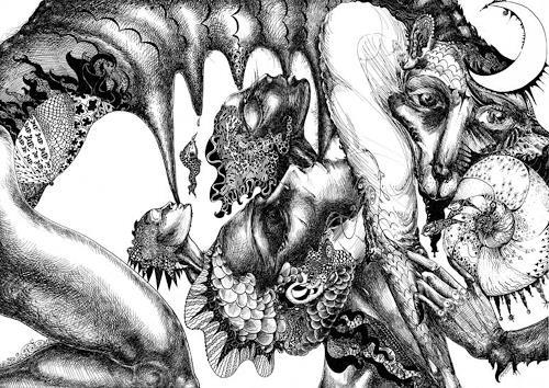 Galina Lukshina, Deja Vue, Symbol, Symbolismus, Abstrakter Expressionismus