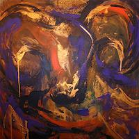 Raphaela-C.-Naeger-Tiere-Land-Mythologie-Moderne-Abstrakte-Kunst
