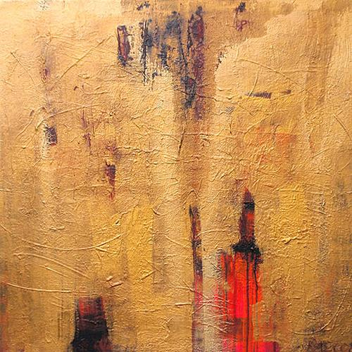Raphaela C. Näger, Goldstrahl.02, Abstraktes, Diverse Gefühle, Abstrakte Kunst
