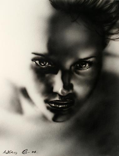 mihaly DUDAS, Nicole, Menschen: Porträt, Fantasie, Gegenwartskunst, Expressionismus