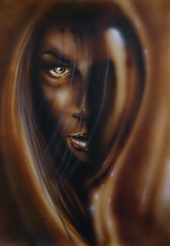 mihaly DUDAS, der Blick, Gefühle: Horror, Menschen: Frau, Gegenwartskunst
