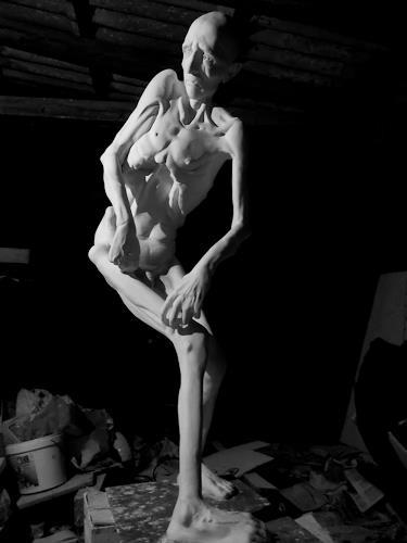 Mirko Sevic, stillness-self-portrait, Gesellschaft, Gesellschaft, Postsurrealismus, Abstrakter Expressionismus