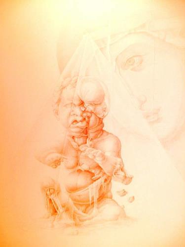 Mirko Sevic, Madona and Child, Religion, Religion, Postsurrealismus, Abstrakter Expressionismus