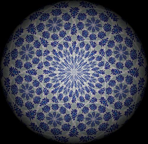 Evelin König, Blaues Blütenmeer, Natur: Erde, Pflanzen: Blumen, Moderne, Expressionismus