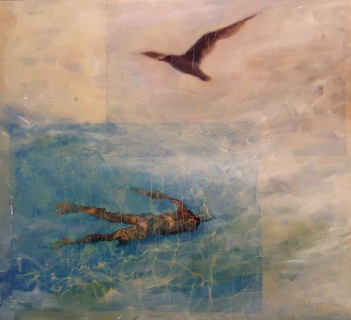 Deborah Maris Lader, By Air or by Sea, Bewegung, Natur: Wasser, Postsurrealismus, Expressionismus