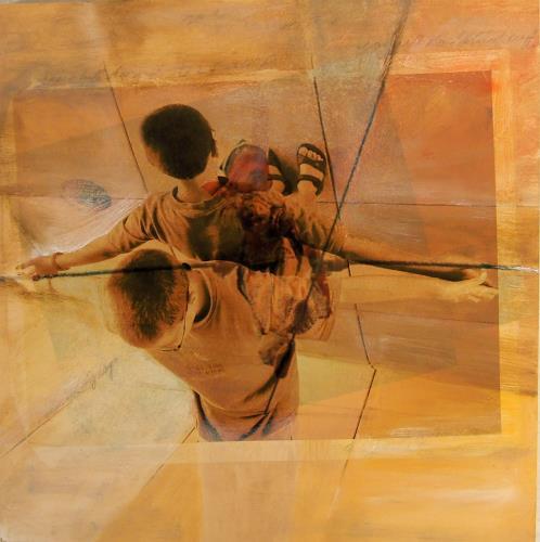 Deborah Maris Lader, Balancing Act, Menschen: Kinder, Situationen, New Image Painting, Abstrakter Expressionismus