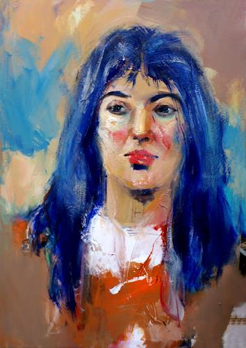 Shefqet Avdush Emini, 16.untitled, Menschen: Frau, Expressionismus