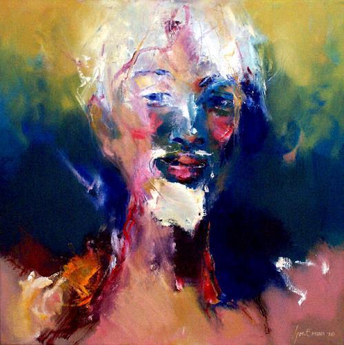 Shefqet Avdush Emini, 17.untitled, Menschen: Porträt, Expressionismus, Abstrakter Expressionismus