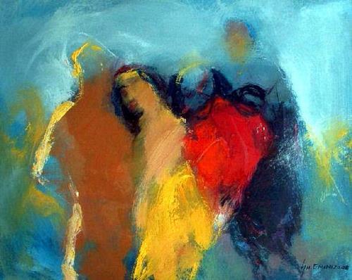 Shefqet Avdush Emini, 18.untitled, Menschen: Gesichter, Expressionismus