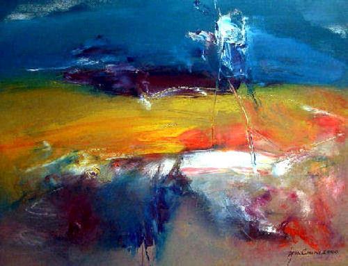 Shefqet Avdush Emini, 15.untitled, Landschaft: Sommer, Landschaft: Herbst, Expressionismus