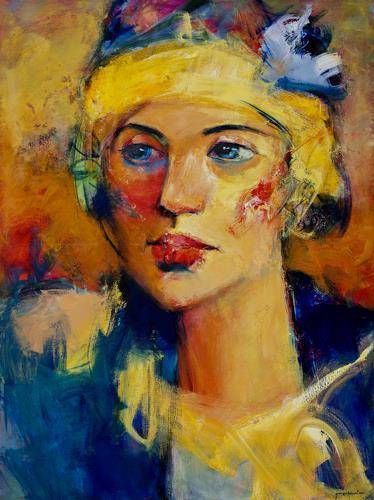 Shefqet Avdush Emini, 1.Untitled, Menschen: Porträt, Menschen: Porträt, Expressionismus