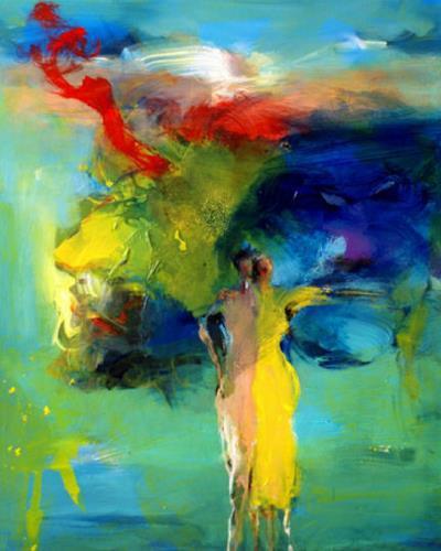 Shefqet Avdush Emini, 4.untitled, Menschen: Frau, Expressionismus