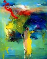 Shefqet-Avdush-Emini-Menschen-Frau-Moderne-Expressionismus