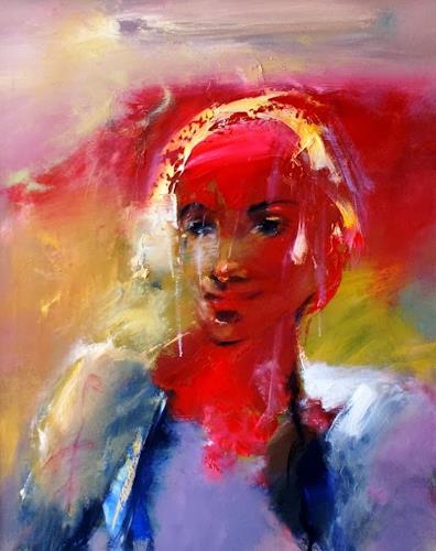Shefqet Avdush Emini, 10, Menschen: Porträt, Expressionismus, Abstrakter Expressionismus