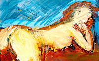 Andrey-Bogoslowsky-Akt-Erotik-Akt-Frau-Gefuehle-Freude-Gegenwartskunst--Neo-Expressionismus