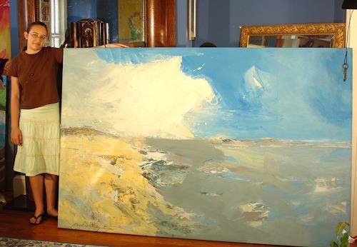Andrey Bogoslowsky, Sea view, northern seas., Landschaft: See/Meer, Freizeit, Expressionismus