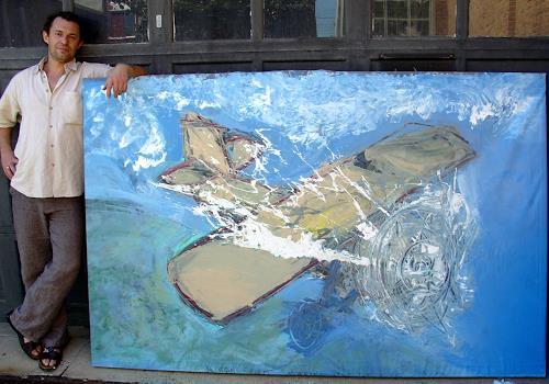 Andrey Bogoslowsky, Airplane, Gefühle: Freude, Spiel, Neo-Expressionismus