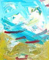 Andrey-Bogoslowsky-Abstraktes-Landschaft-Sommer-Gegenwartskunst--Neo-Expressionismus