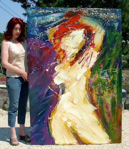 Andrey Bogoslowsky, Let self be one with all life, Akt/Erotik: Akt Frau, Gefühle: Stolz, Neo-Expressionismus