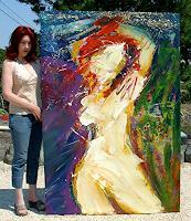 Andrey-Bogoslowsky-Akt-Erotik-Akt-Frau-Gefuehle-Stolz-Gegenwartskunst--Neo-Expressionismus
