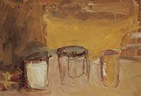 Andrey-Bogoslowsky-Wohnen-Zimmer-Stilleben-Gegenwartskunst--Neo-Expressionismus