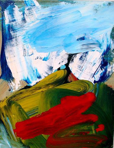 Andrey Bogoslowsky, Inspiration in the air, Landschaft: Herbst, Gefühle: Freude, Neo-Expressionismus