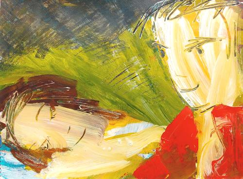 Andrey Bogoslowsky, master of dreams 1., Menschen: Paare, Gefühle: Liebe, Neo-Expressionismus