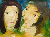 Andrey-Bogoslowsky-Menschen-Paare-Gefuehle-Liebe-Gegenwartskunst--Neo-Expressionismus