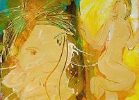 Andrey-Bogoslowsky-Menschen-Paare-Gefuehle-Stolz-Gegenwartskunst--Neo-Expressionismus