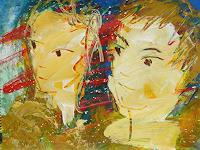 Andrey-Bogoslowsky-Gefuehle-Geborgenheit-Menschen-Paare-Gegenwartskunst--New-Image-Painting