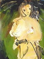 Andrey-Bogoslowsky-Gefuehle-Angst-Akt-Erotik-Akt-Frau-Gegenwartskunst--Neo-Expressionismus