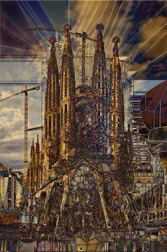 barbara banthau, Sagrada digital, Abstraktes, Moderne, Abstrakter Expressionismus