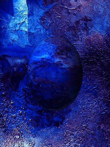 barbara banthau, blauer planet, Abstraktes, Moderne