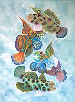 Lucy-Arnold-Tiere-Wasser-Natur-Wasser-Moderne-expressiver-Realismus