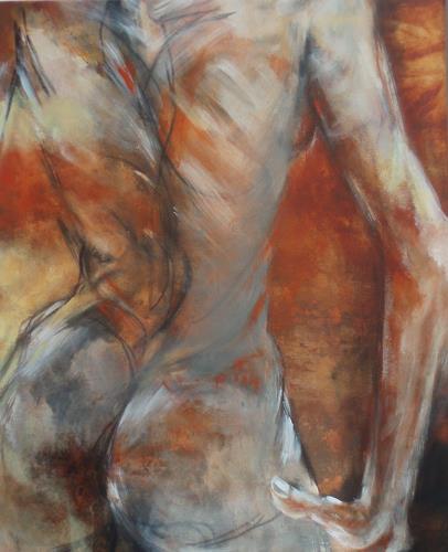 Carmen Heidi Kroese, Silvia, Akt/Erotik: Akt Frau, Menschen: Frau, Gegenwartskunst, Expressionismus