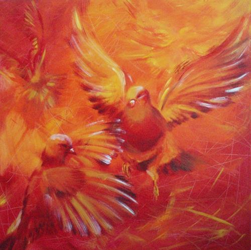 Carmen Kroese, Vögel, Natur: Luft, Tiere: Luft, Gegenwartskunst
