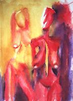 Carmen-Kroese-Akt-Erotik-Akt-Frau-Abstraktes-Gegenwartskunst--Gegenwartskunst-