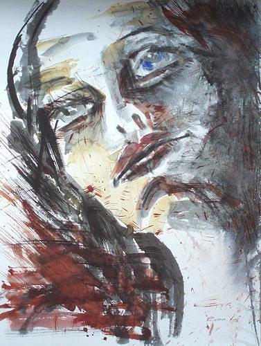 Carmen Heidi Kroese, Frauenportrait, Menschen: Frau, Menschen: Gesichter, Gegenwartskunst