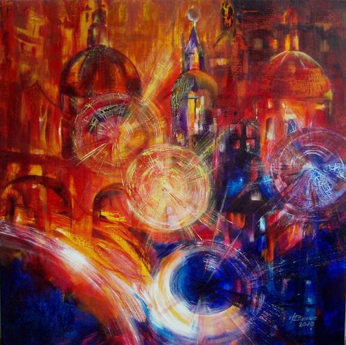Carmen Kroese, Dezemberlicht, Architektur, Abstraktes, Gegenwartskunst, Expressionismus