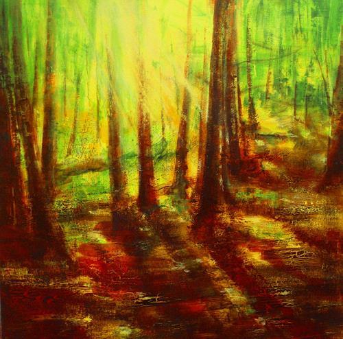 Carmen Heidi Kroese, L'odeur du bois, Natur: Wald, Pflanzen: Bäume, Gegenwartskunst