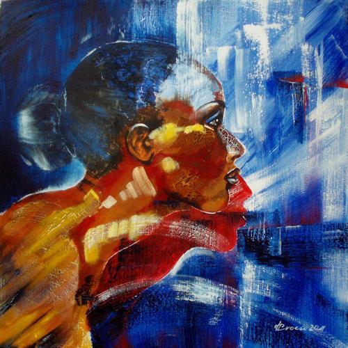 Carmen Heidi Kroese, Portrait, Menschen: Frau, Menschen: Porträt, Gegenwartskunst, Expressionismus