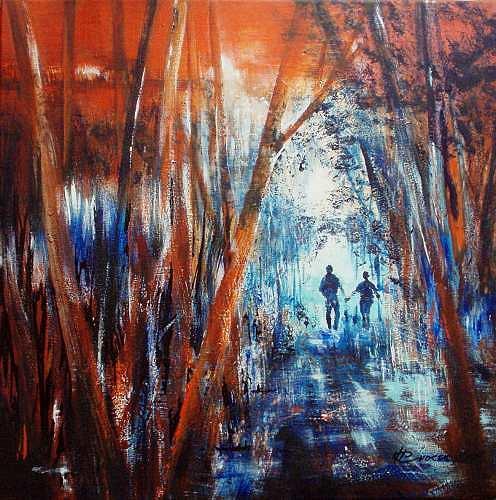 Carmen Kroese, Waldspaziergang, Natur: Wald, Natur: Diverse, Gegenwartskunst, Expressionismus